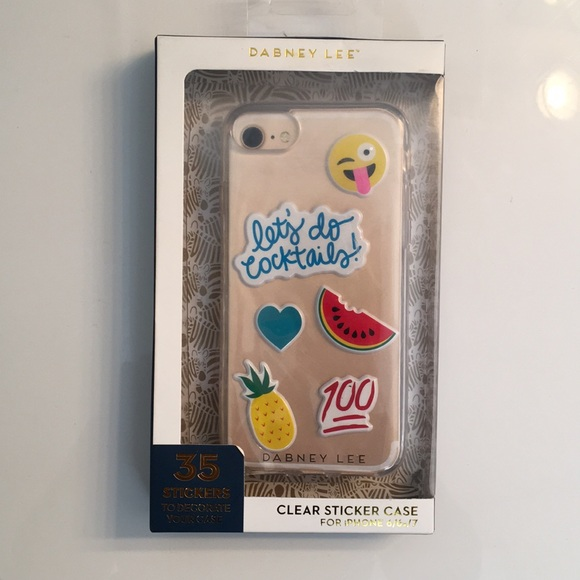detailed look 3eab8 bf956 Dabney Lee Clear Sticker Case NWT